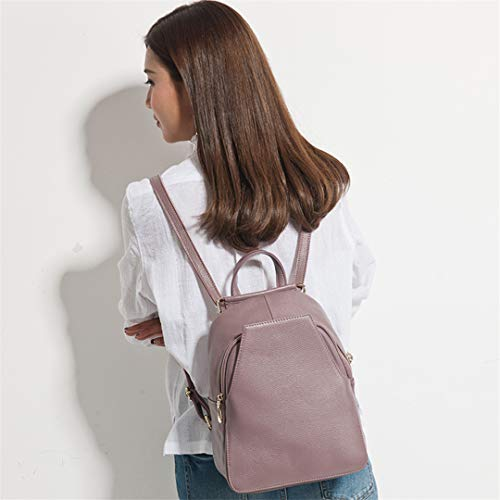 Light Backpack Backpack 100 Holiday Academy Travel Women's Women's Leather Purple 8Pwv0P