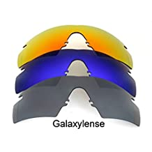 Galaxy Replacement Lenses for Oakley M Frame Strike Black/Blue/Red Color 3Pairs