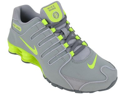 Nike Shox Grey Lime Green