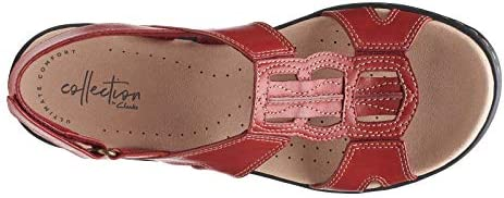 CLARKS Womens Leisa Skip Leather Wedge Sport Sandals