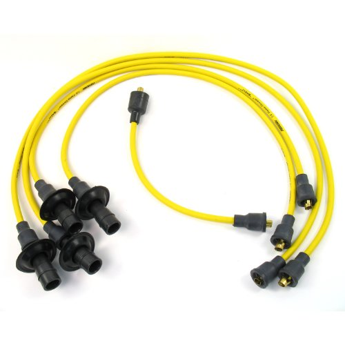 Pertronix 704501 Flame-Thrower Yellow Custom Fit 4 Cylinder Spark Plug Wire