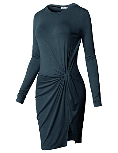 - H2H Women's Knot Front Maternity Dress Navy US M/Asia M (CWDSD0150)