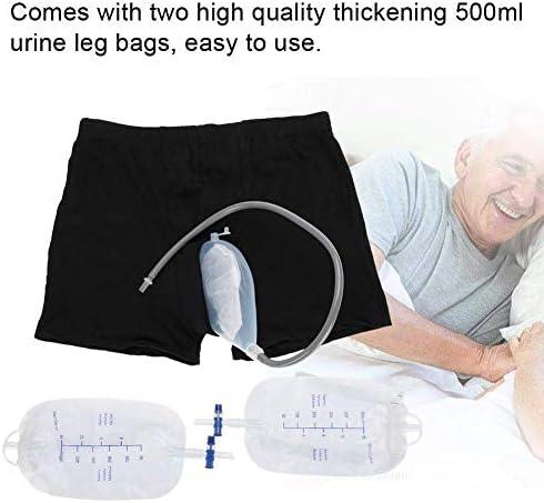 男性用ポータブル尿袋失禁パンツ、コレクションバッグ付き便器システム