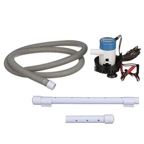 Seachoice 19481 12V Aeration and Pump System - Includes 5 Feet of Flexible  Hose - 360 GPH