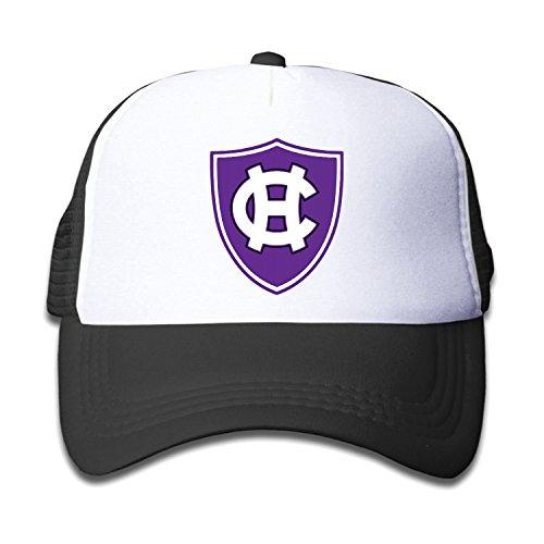 Teen Youth Holy Cross Crusaders Logo Baseball Hat Mesh Back Trucker Hiphop (3 Colors) Black