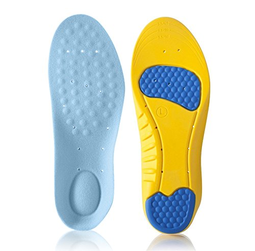 Dr.Koyama Premium Memory Foam Silicon Gel Orthopedic Shock Absorbing Sports Insole US Men 8-12 Women 10-14 (Shoe Inserts For Standing compare prices)