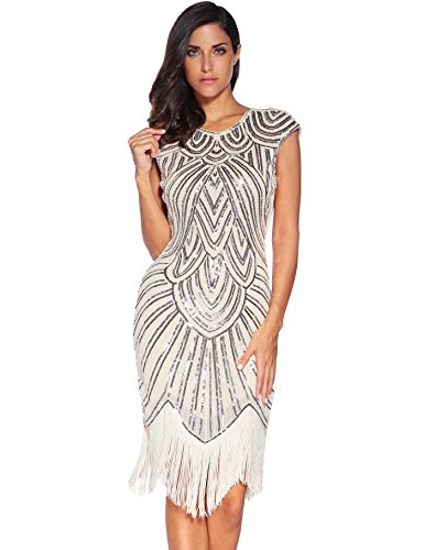 Meilun Womens 1920s Gatsby Sequin Beaded Vintage Cocktail Flapper