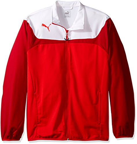 Puma Mens Esito 3 Tricot Jacket Puma Red-White