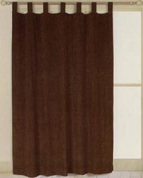 Curtains Ideas chocolate brown tab top curtains : 66