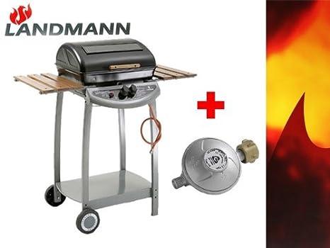 Billig Landmann Gasgrill : Landmann gasgrill 1208 incl. druckminderer lavastein grill