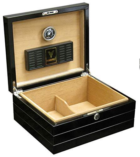 Prestige Import Group - Onyx Lacquer High Gloss Black Cigar Humidor (Lacquer Humidor Cigar)