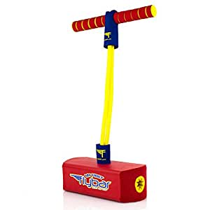 My First Flybar Foam Pogo Jumper For Kids Fun and Safe Pogo Stick For Toddlers, Durable Foam and Bungee Jumper For Ages 3 and up, Supports up To 250lbs (Red)