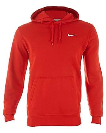 Nike Club Swoosh Mens Red Hoodie(Medium)