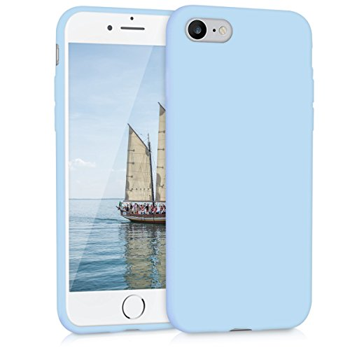 Silicone Matte (kwmobile Chic TPU Silicone Case for the Apple iPhone 7/8 in light blue matte)