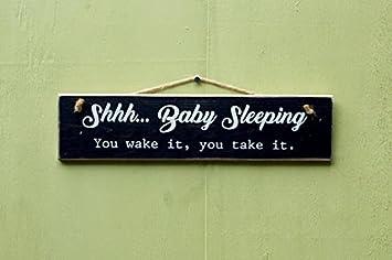 Personalizado Letrero De Madera saco de dormir – Señal de You de encendido se You Take