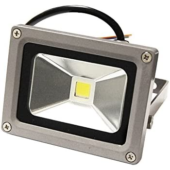 etoplighting lef120v10dl-1p 10w outdoor led flood spot light 120v daylight  white security outdoor garden lamp waterproof ip65