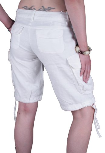 Diesel Damen Bermuda Cargo Shorts Hupin Weiß #23