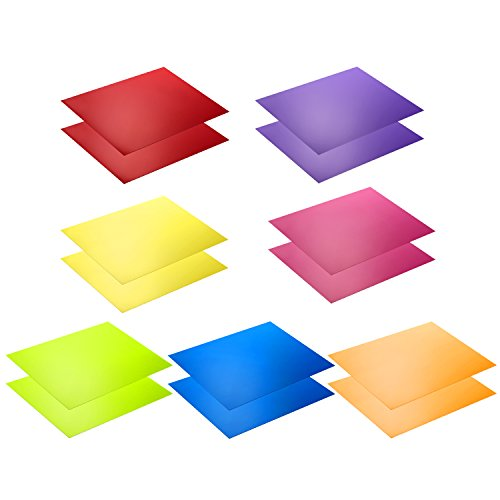 Neewer 14 Pieces Flash Lighting Gel Filter Kit with 7 Different Colors - 11x8.6 inches Transparent Color Correction Lighting Film Plastic Sheets