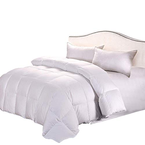 Cozyfeather Real Goose Down Comforter Duvet Cal King