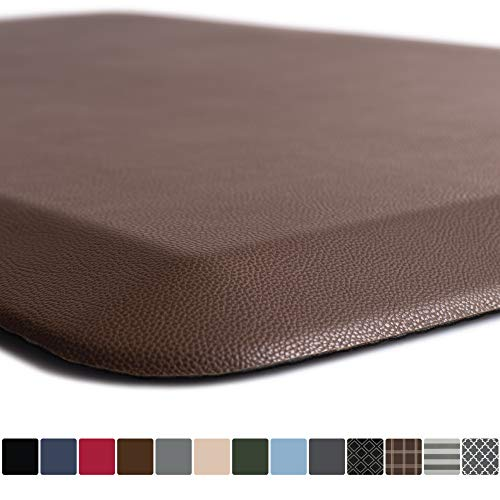 GORILLA GRIP Original Premium Anti-Fatigue Comfort Mat, Phthalate Free, Ships Flat, Ergonomically Engineered, Extra Support and Thick, Kitchen and Office Standing Desk, 32x20, Brown