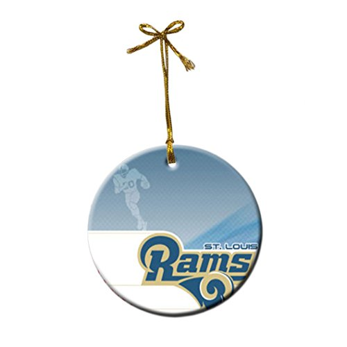 St. Louis RAMS Custom Fashion Porcelain Gift Christmas decorations hanging (St Louis Rams Round Charm)