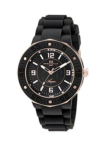 Oceanaut Women's OC0220 Aqua Analog Display Quartz Black Watch