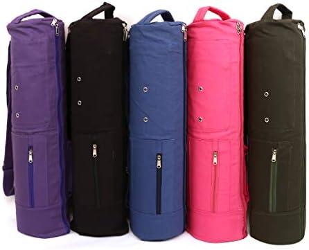 KD Yoga Mat Bag Cover Full Zip Large Size Double Storage Fits Yoga Mat, Block, Belt & More 3 Pockets
