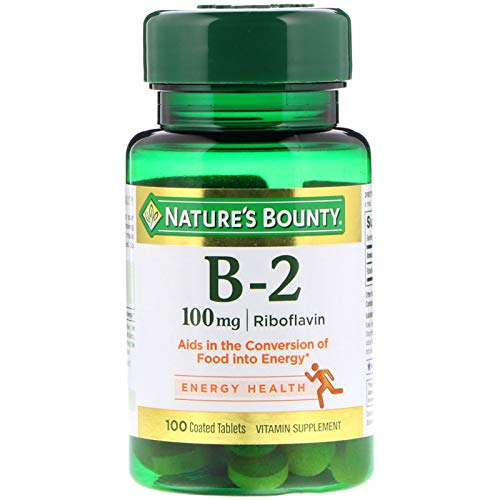 Nature's Bounty Vitamin B2-100 mg – 100 Tablets
