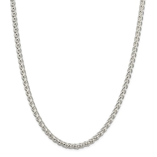 Sterling Silver 5mm Round Spiga Chain 30in Necklace by Diamond2Deal