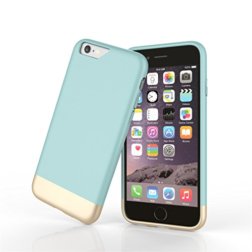 iphone 6s Plus Case, 6 plus Case, Aicoo Ultrathin Candy Colors Oil-Surface Nice-Touch Hard PC Shell With Microfiber Inner Phone Case Cover For iphone 6 plus/6S Plus 5.5 inch, Blue