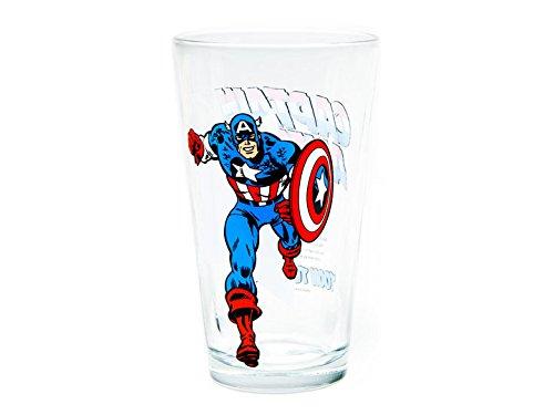 Captain America Glass Toon Tumbler