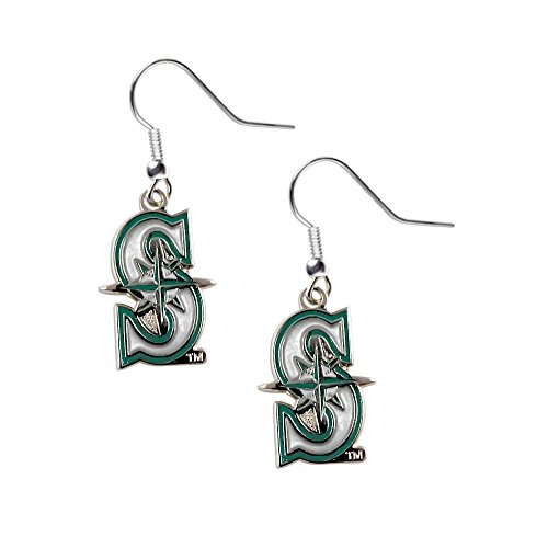 Seattle Mariners Dangle Logo Earring Set Mlb Charm Gift