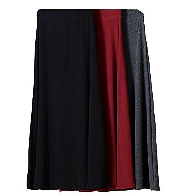 Women's Autumn 100% Cotton Stretch High Waist A-line Flared Long Skirt Skirts