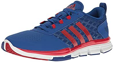 adidas Performance Men's Speed Trainer 2 Training Shoe, Collegiate Royal/Power Red/Tech Grey/Metallic, 4 M US