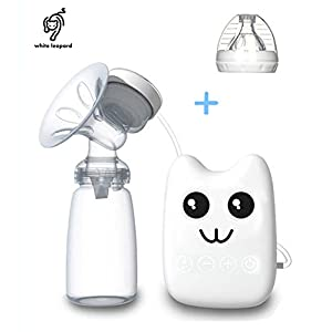 Whiteleopard Electric Breast Pump Single Comfort Breastpump- 2 Mode Suction & Massage
