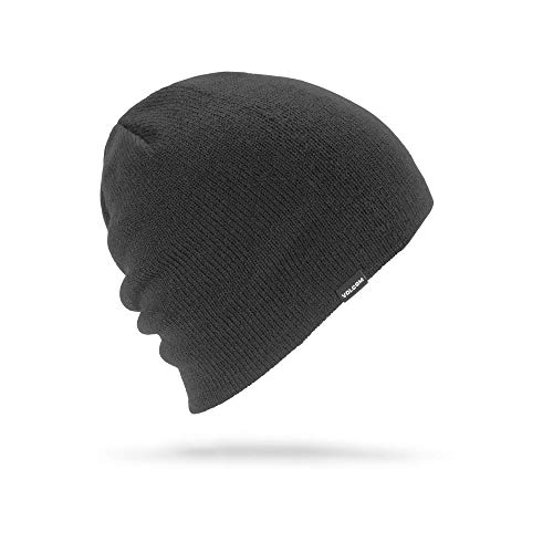 Volcom Men's Woolcott Skullfit Snow Beanie, Black, One Size Fits All