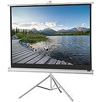 celexon 110 Tripod Projector Screen Tripod Economy, 96 x 54 inches viewing area, 16:9 format, White edition