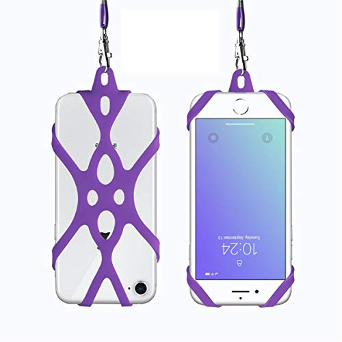 ROCONTRIP 2 in 1 Cell Phone Lanyard Strap Case Holder with Detachable Neckstrap Universal for Smartphone iPhone 8,7 6S iPhone 6S Plus,Samsung Galaxy Google Pixel 4.7-5.5 inch -