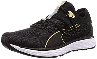 PUMA Men's Speed 600 Fucefit Sneaker, Puma Black-puma White-taos Tau, 7 US
