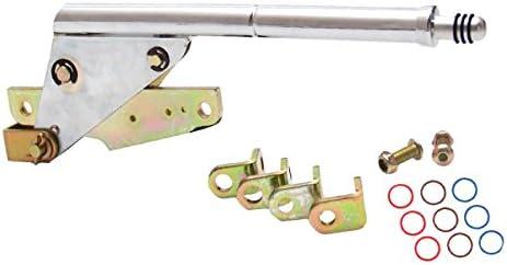 American Shifter 497454 8 Trim CHR Push Ban BLK Boot Billet Knob 4L80E Shifter Kit for EDA16