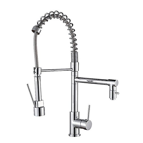 SUhang Kitchen Sink Taps All Copper Pull Faucet Dish Washing Basin Of Cold And Hot Water In The Kitchen Washing Dishes Socket 360 Degrees.
