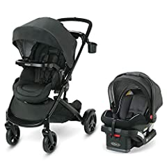 The Graco Modes2Grow Travel System is 4 strollers in 1: infant car seat carrier, infant bassinet, toddler stroller, and double stroller. It starts out as a single stroller and adapts to become a double stroller to grow with your family. With ...