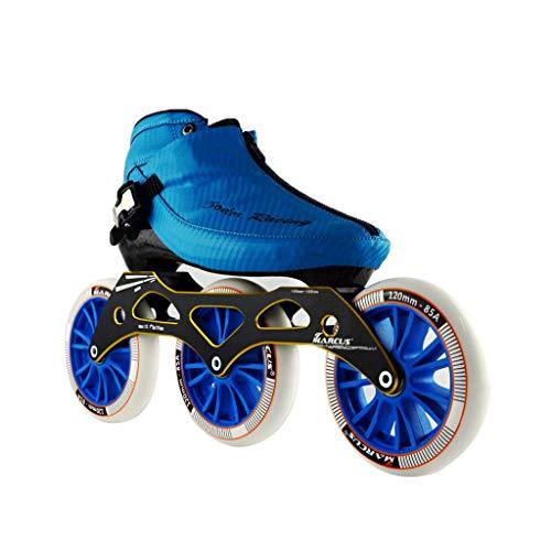 ファシズム成り立つ再撮りailj スピードスケート靴3 * 120MM調整可能なインラインスケート、ストレートスケート靴(3色) (色 : 黒, サイズ さいず : EU 45/US 12/UK 11/JP 27.5cm)