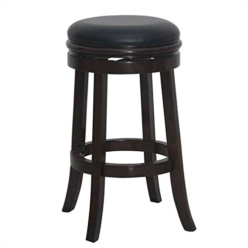 Boraam 44829 Backless Bar Stool, 30-Inch, Cappuccino - Augusta Stool