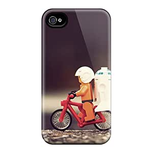 [WSX4206YpXN]premium Phone Case For Iphone 4/4s/ Star Wars Bicycle Tpu Case Cover