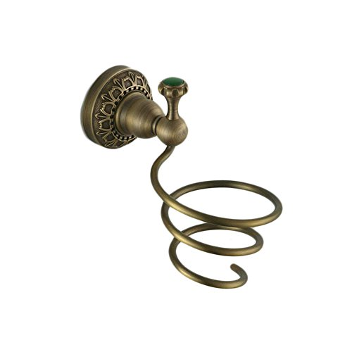Beelee copper wall mounted hair dryer holder,Antique Brass