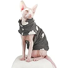 Khemn Designer Cloud Fashion Cat Warm Clothes Cat Thin Sweater-Best for Hairless Cat