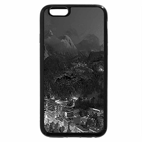 iPhone 6S Plus Case, iPhone 6 Plus Case (Black & White) - Valley winter