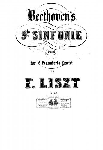 Symphony No.9 - For 2 Pianos 4 hands (Liszt) - Score