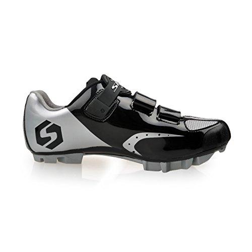 Chaussures vélo de VTT / Route Homme Femmo (VTT argent et noir, EU43)